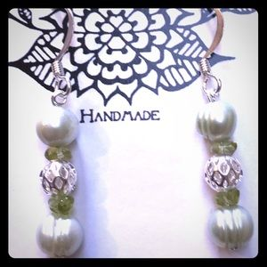Pearl & Peridot Earrings